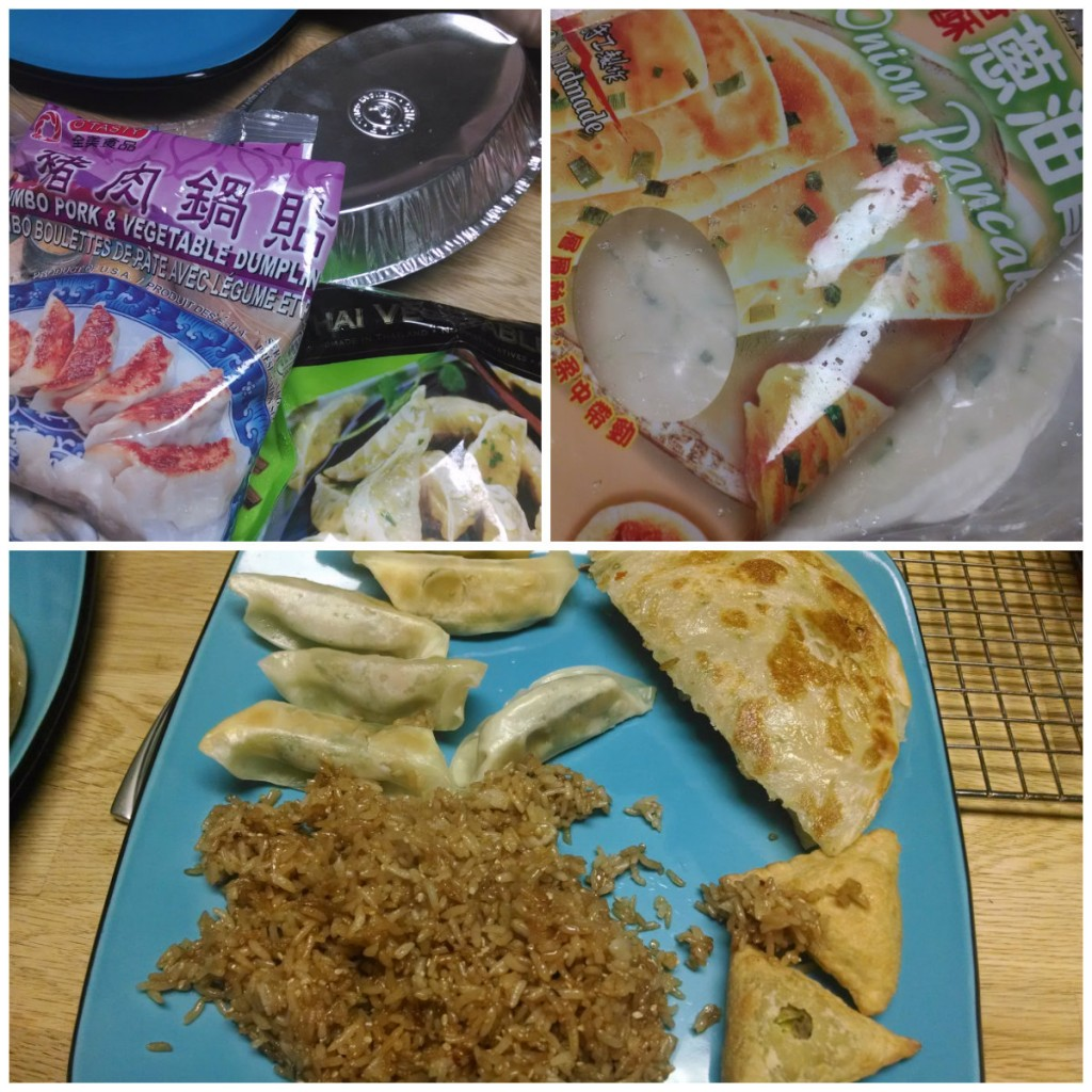 asian appetizers collage