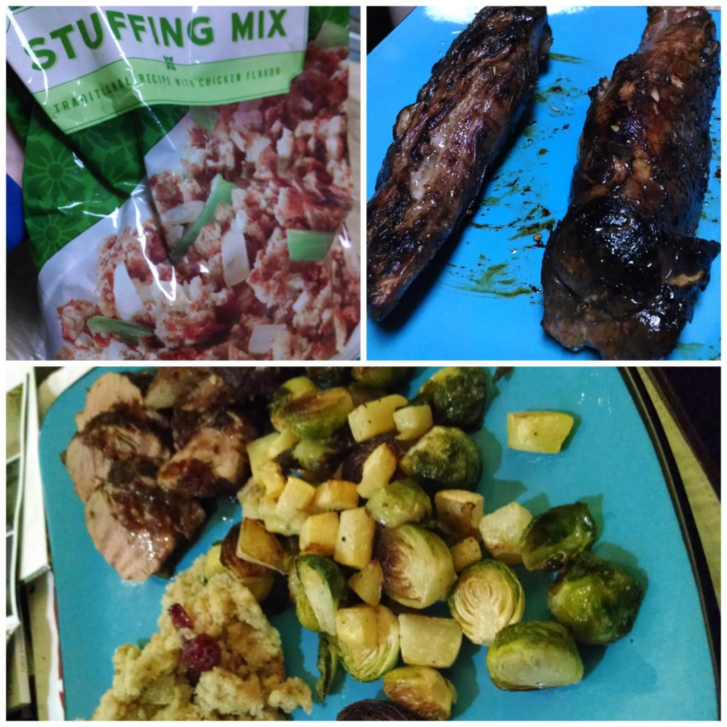 stuffing and pepper jelly collage