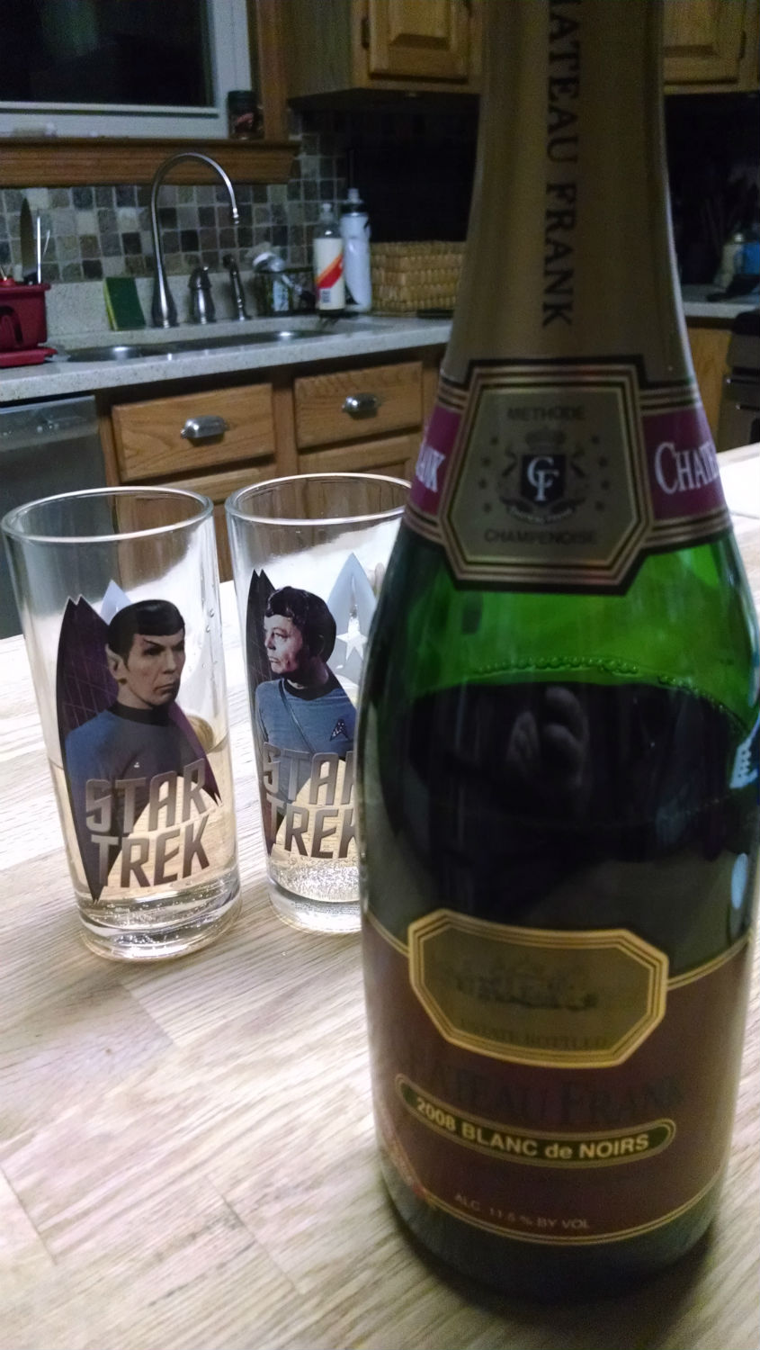 champagne and star trek